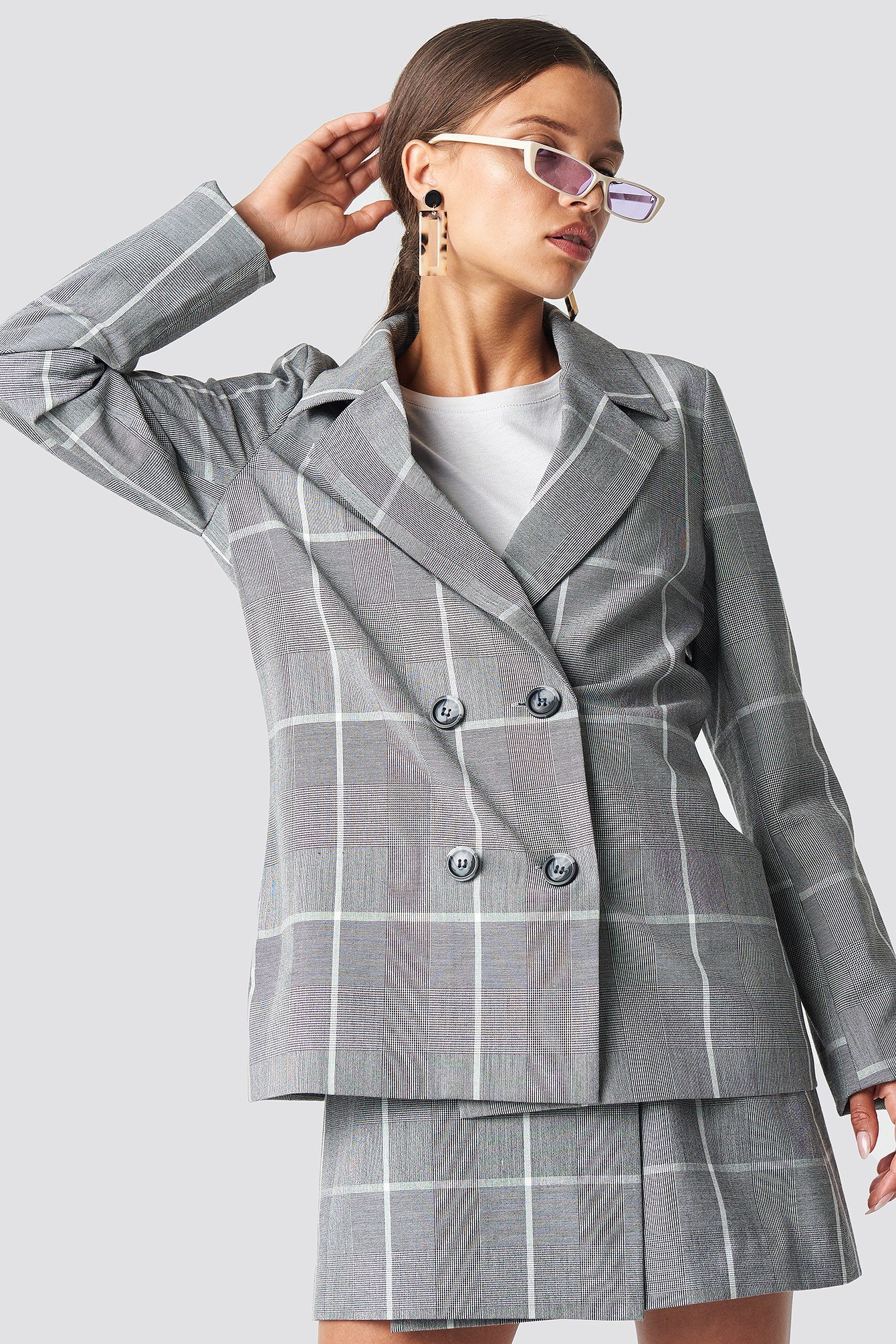 Checked Oversized Blazer NA-KD.COM