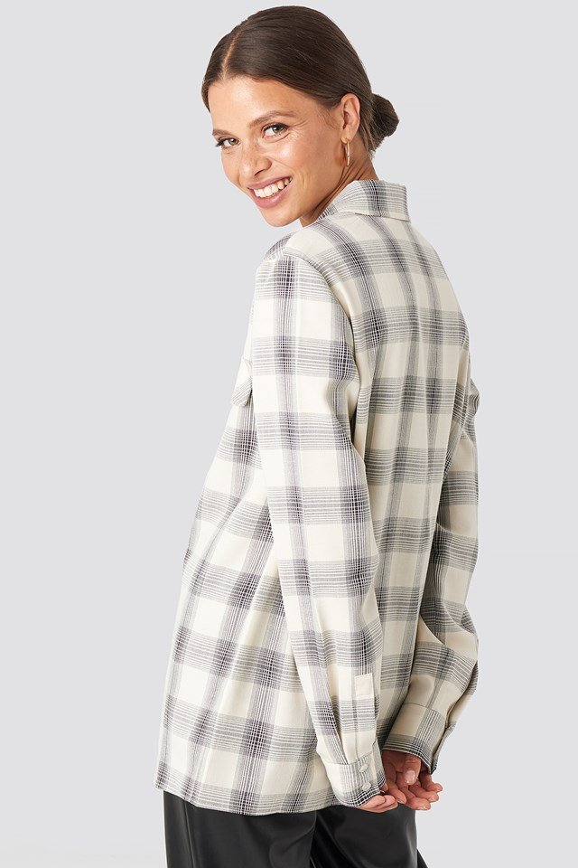 Checked Oversized Shirt Checked