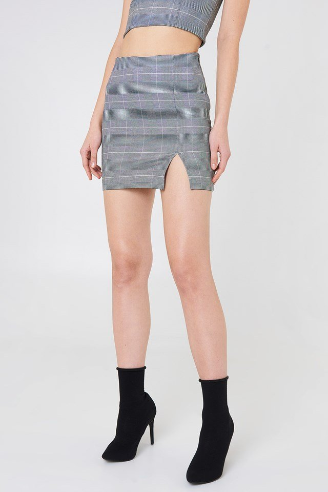 Checkered Mini Skirt Checkered