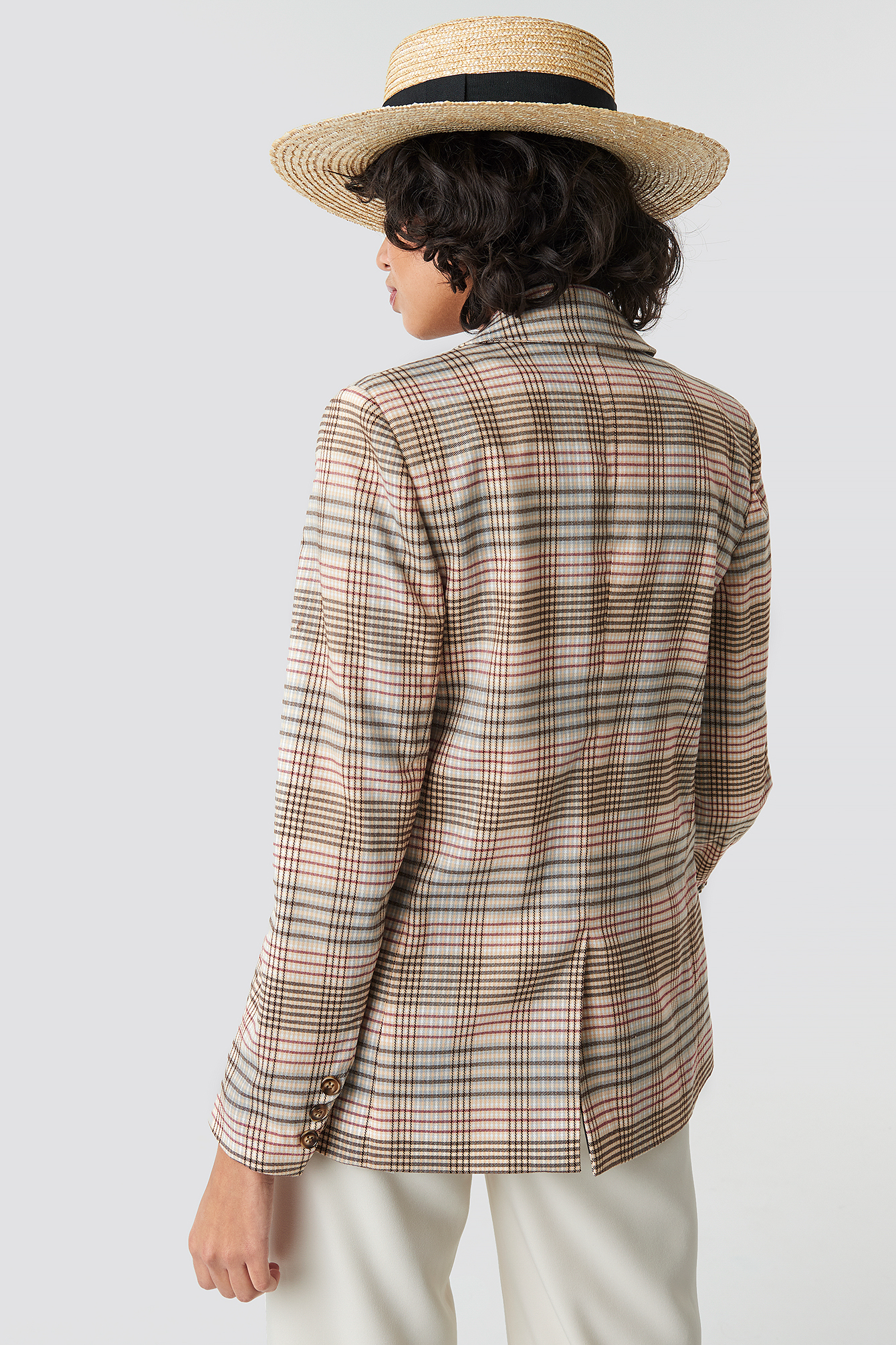 Checkered Straight Double Breasted Blazer NA-KD.COM
