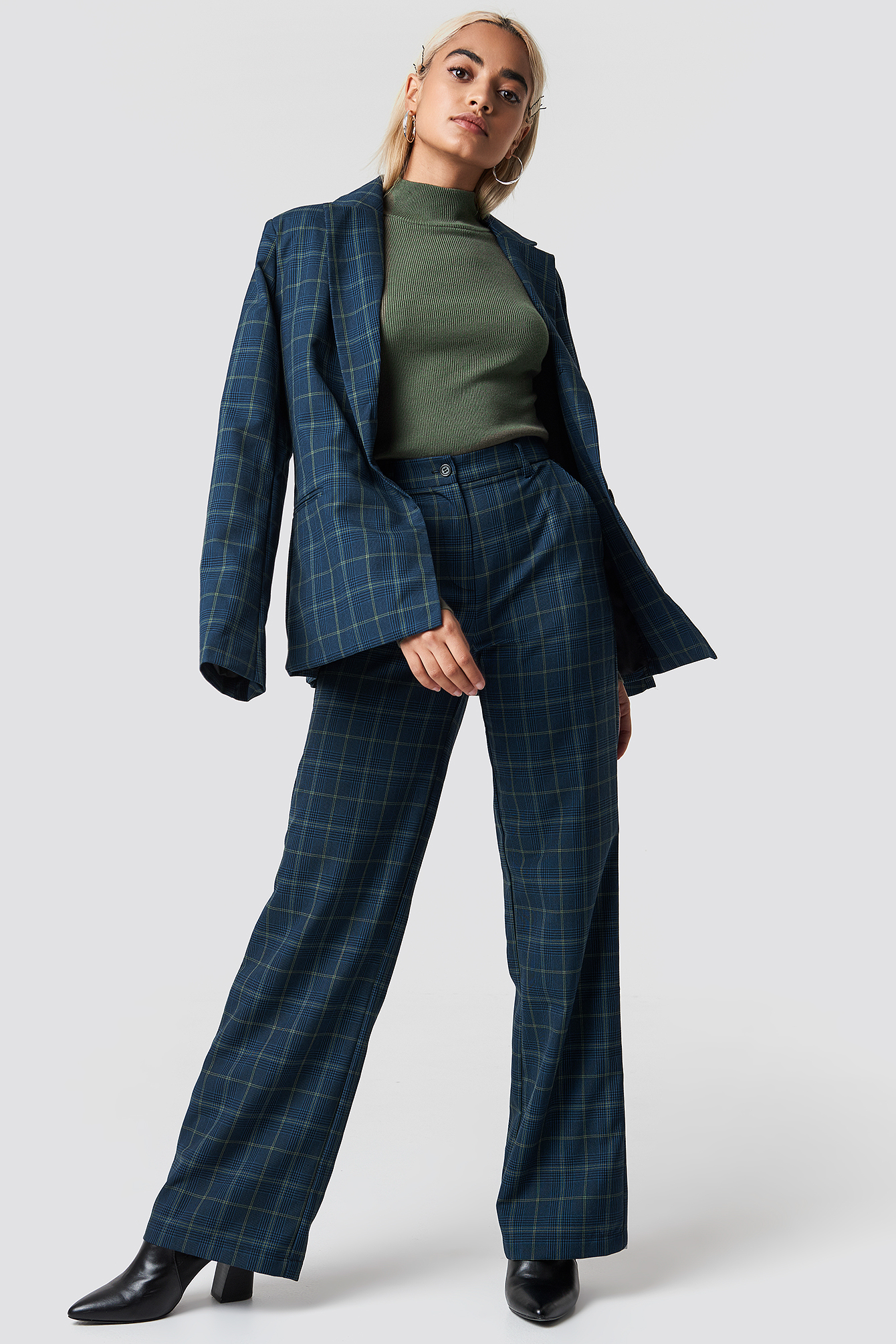 Checked Wide Suit Pants NA-KD.COM
