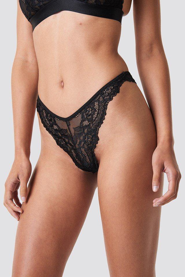 Cheeky Lace Panty Black