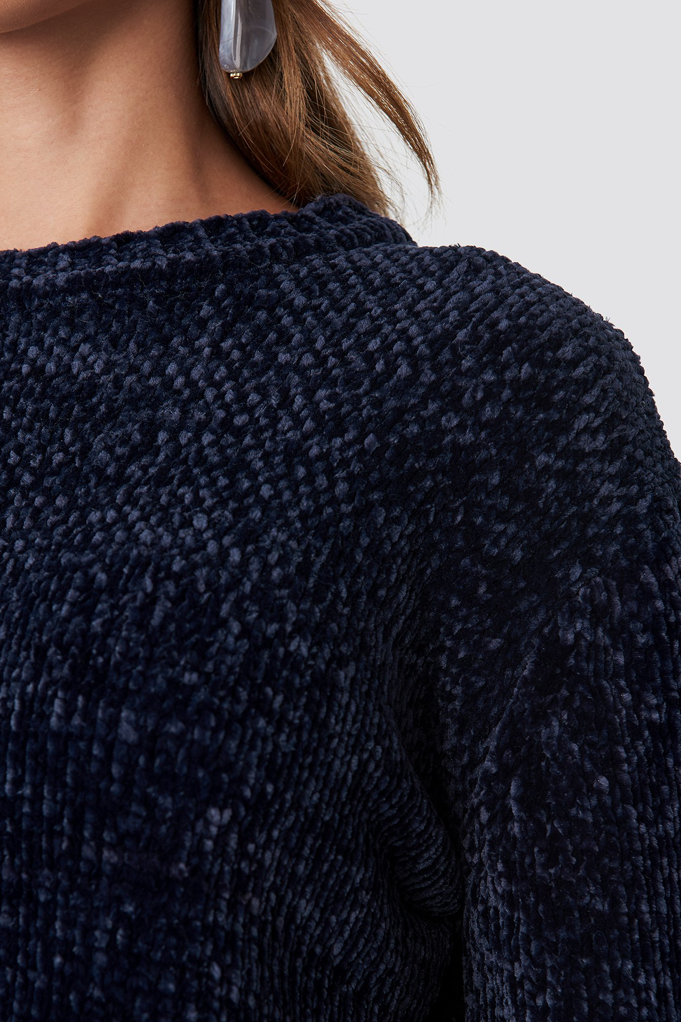 Chenille Knitted Sweater NA-KD.COM