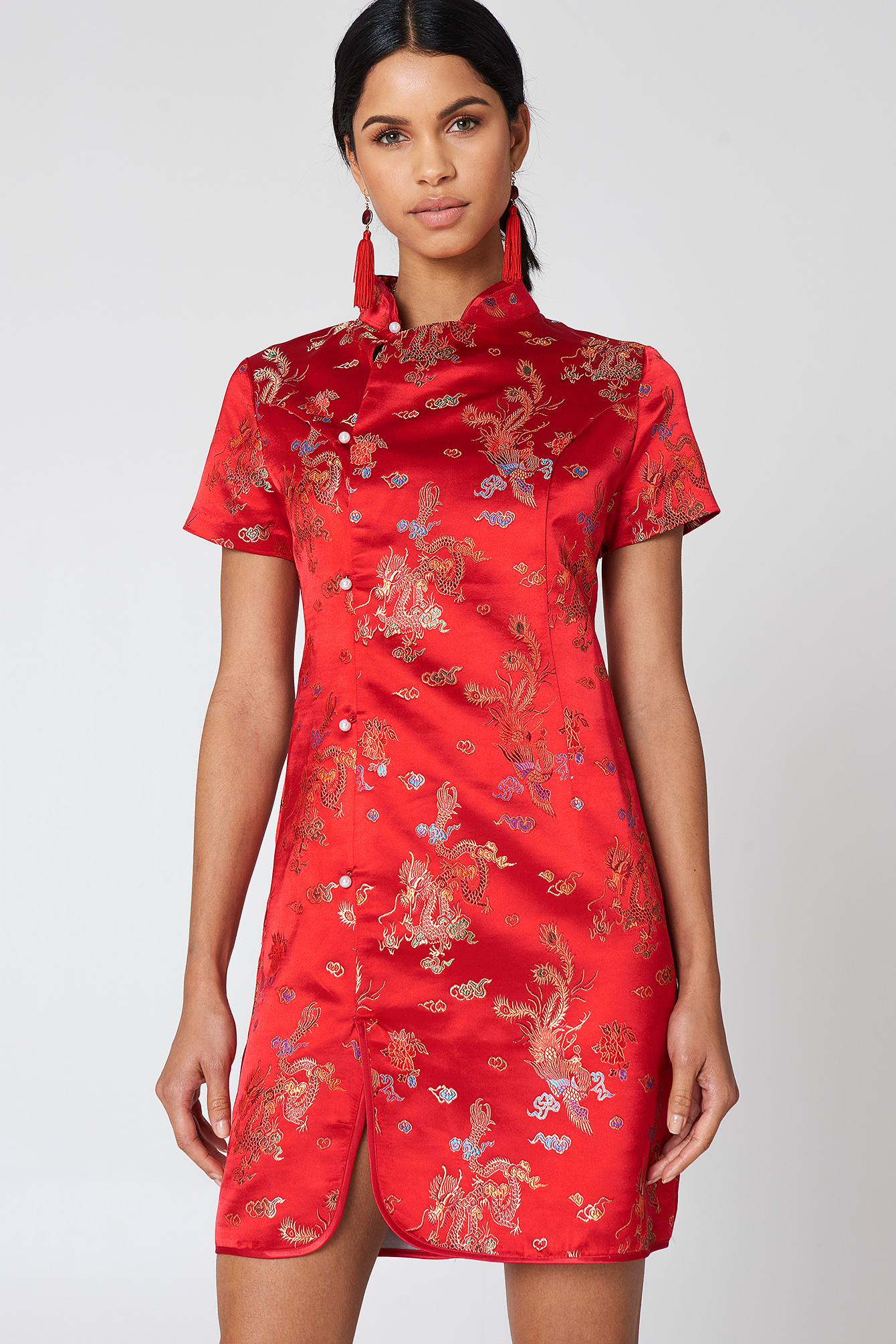 Cheongsam Mini Dress NA-KD.COM
