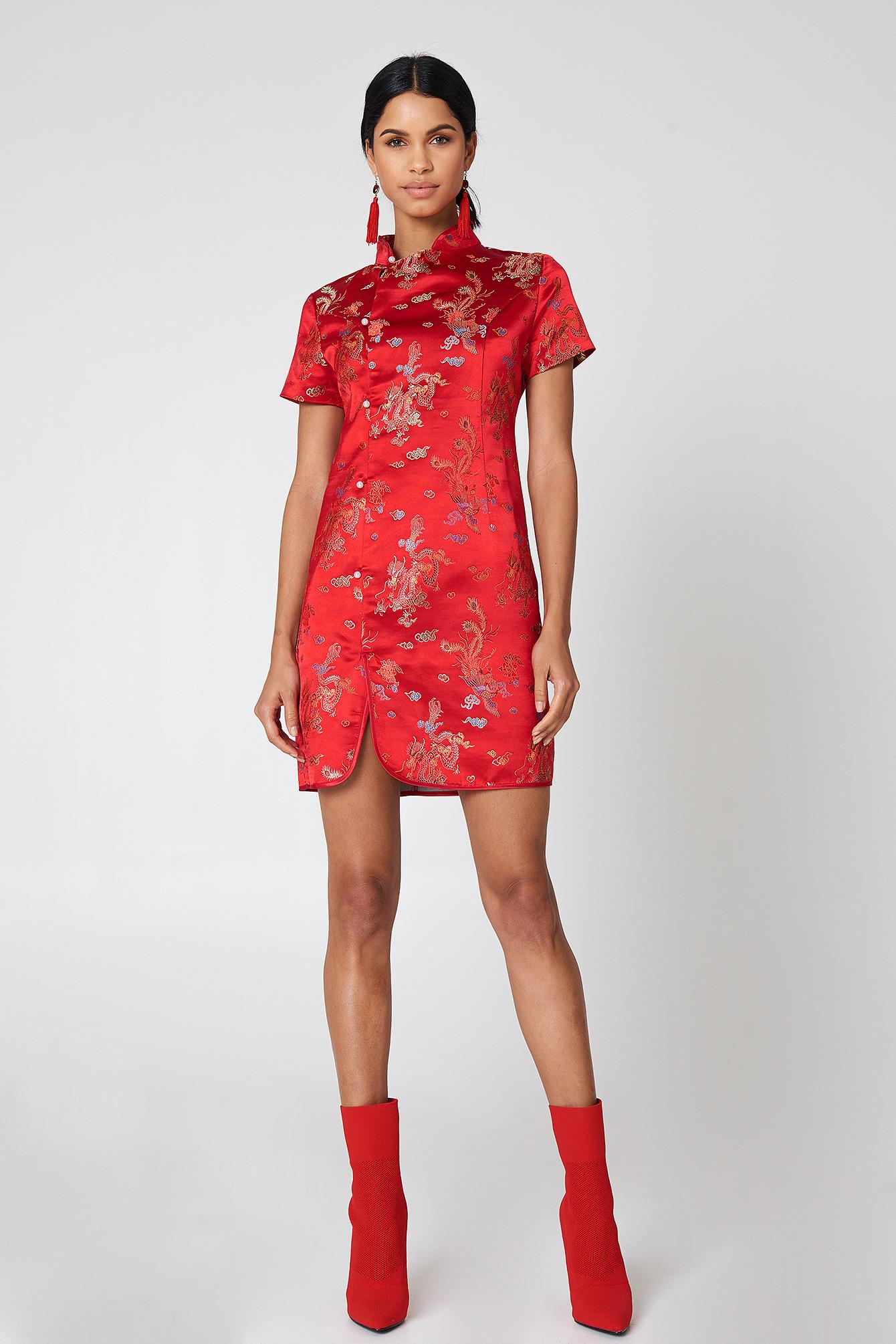 Cheongsam Mini Dress NA-KD.COM
