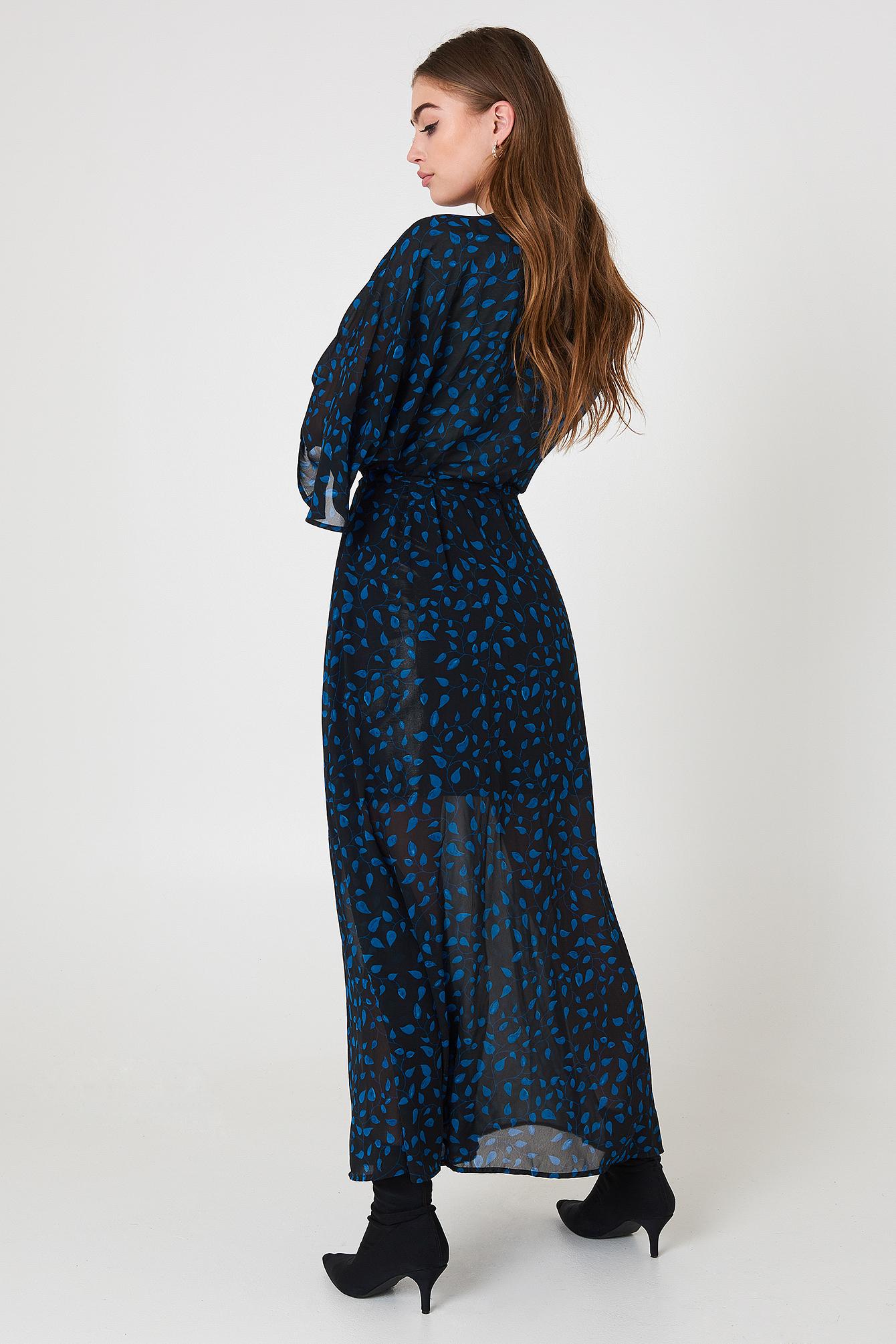 Szyfonowa sukienka płaszczowa NA-KD.COM
