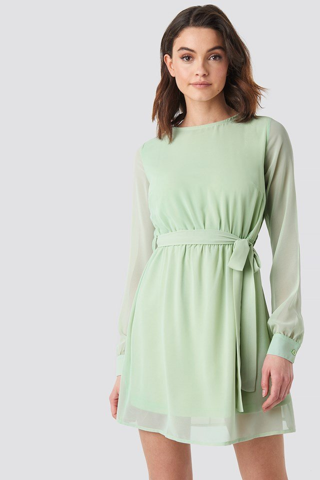 Chiffon Dress Green