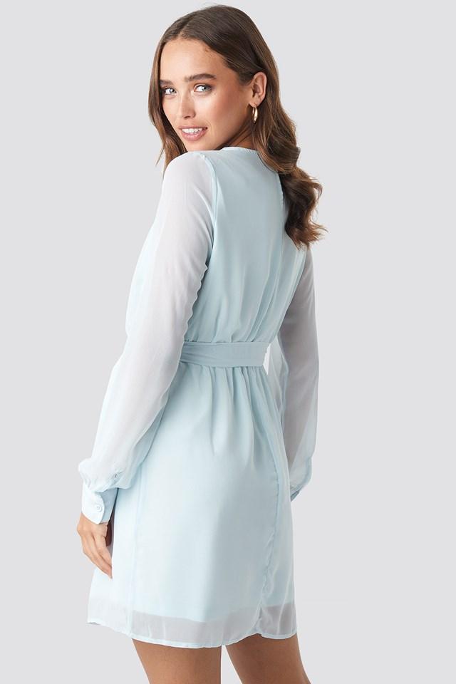 Chiffon Dress Pale Blue