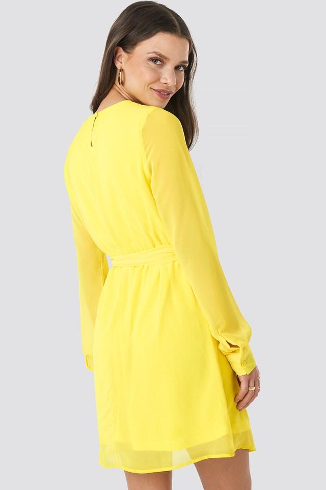 Chiffon Dress Yellow