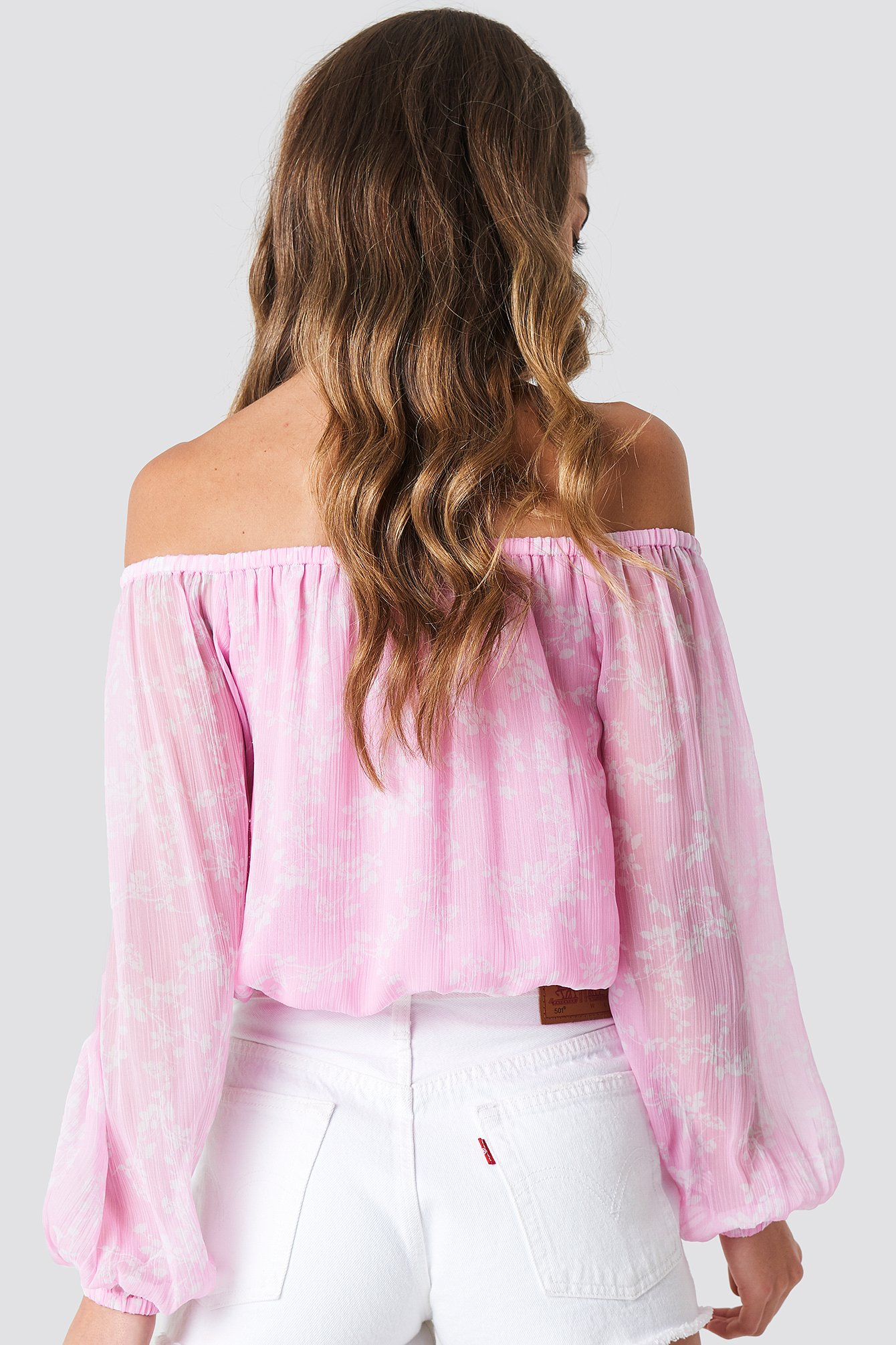 Chiffon Off Shoulder Blouse NA-KD.COM