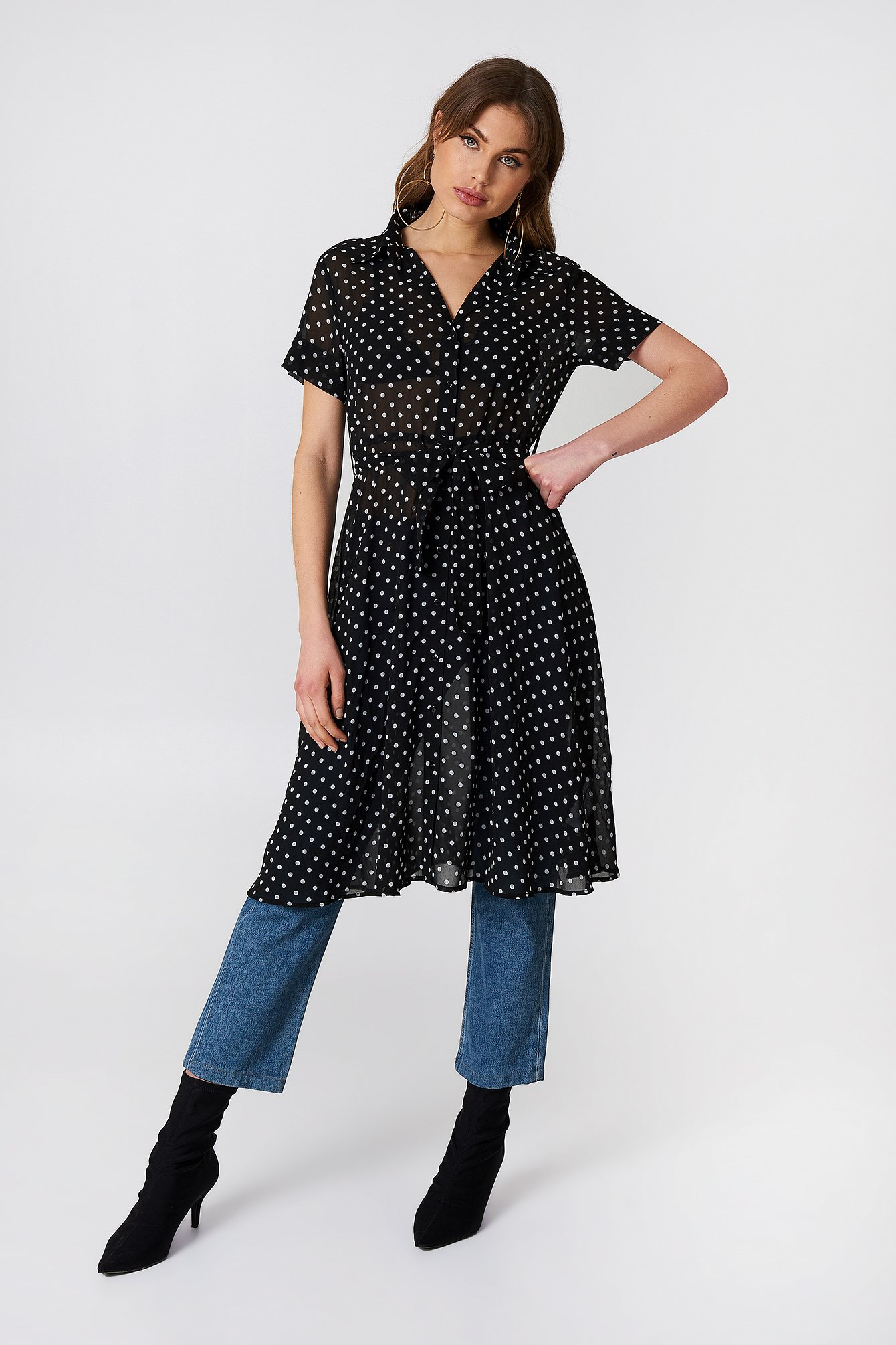 Chiffon Shirt Dress NA-KD.COM