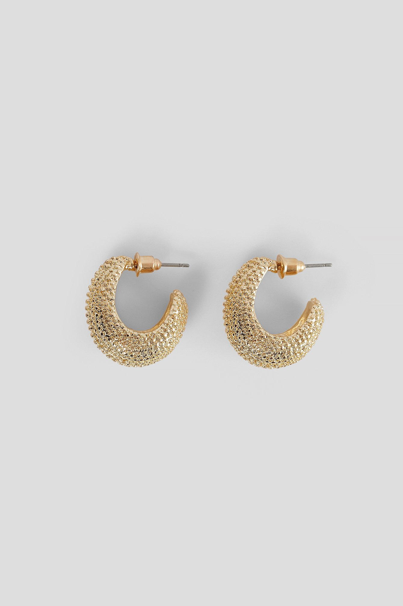 Gold Chubby Sparkle Look Earrings