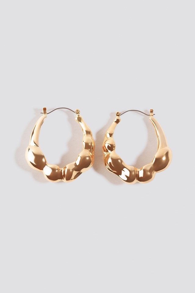 Chubby Structured Hoop Earrings NA-KD Accessories