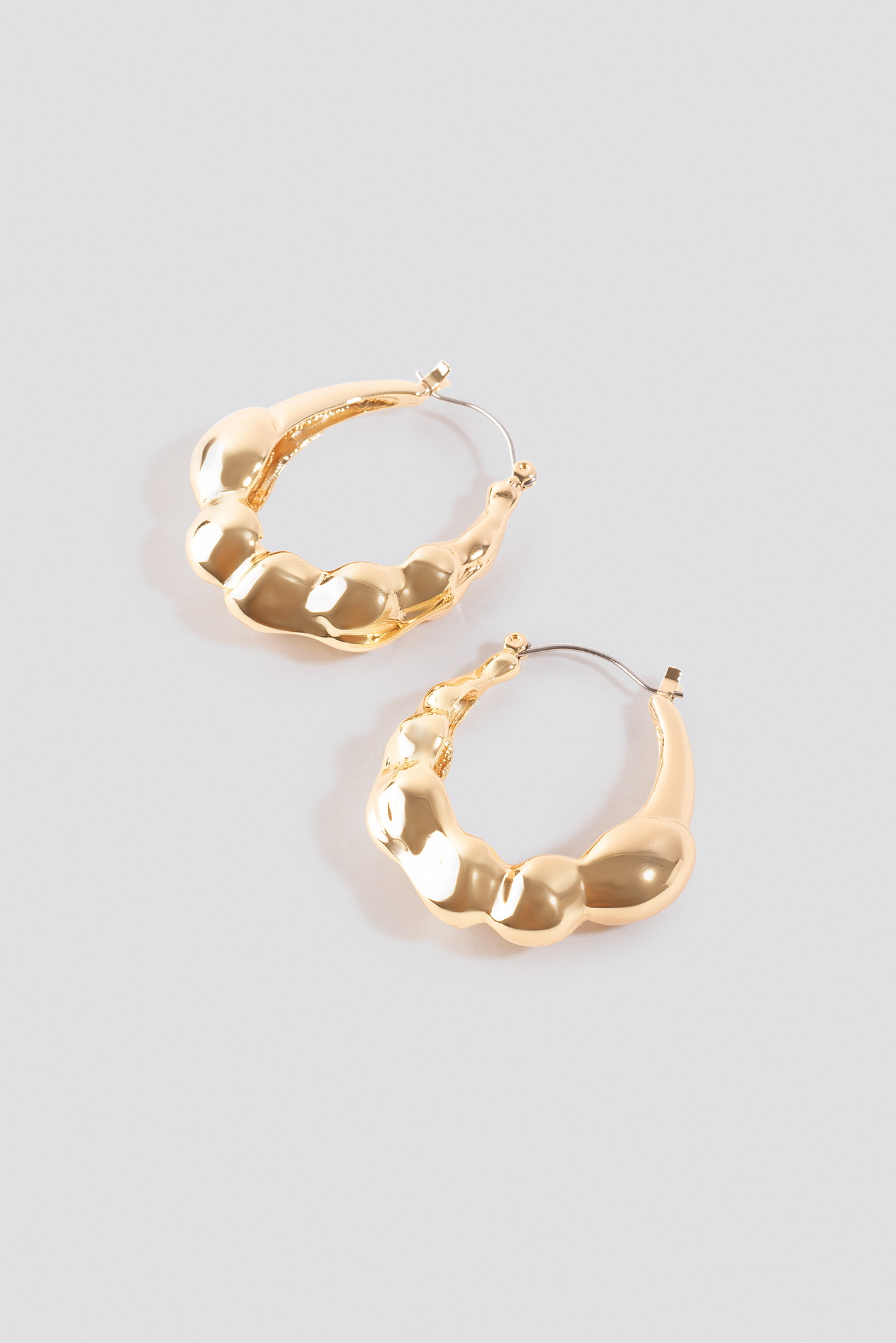 Chubby Structured Hoop Earrings NA-KD.COM