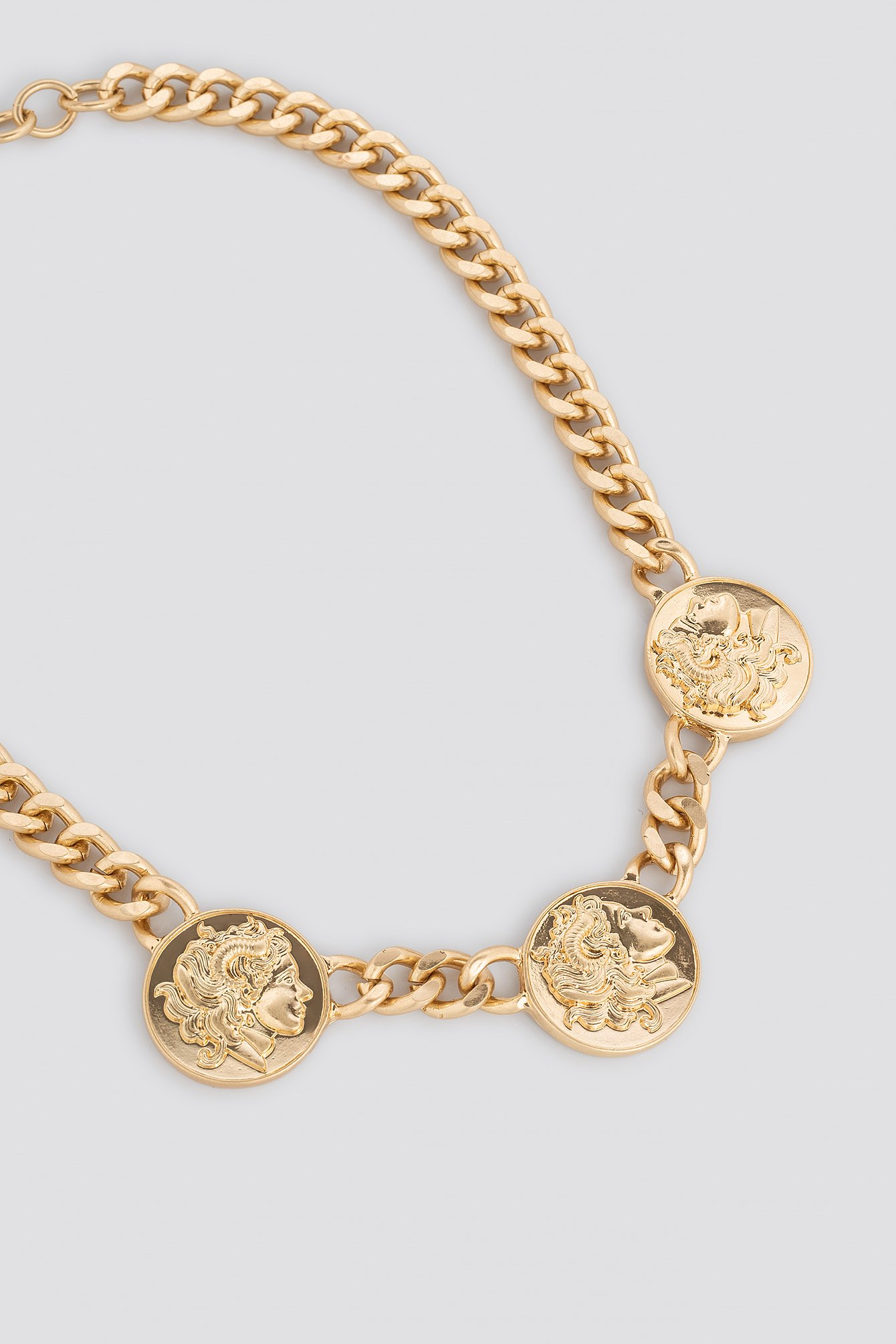Chunky Chain Coin Necklace NA-KD.COM