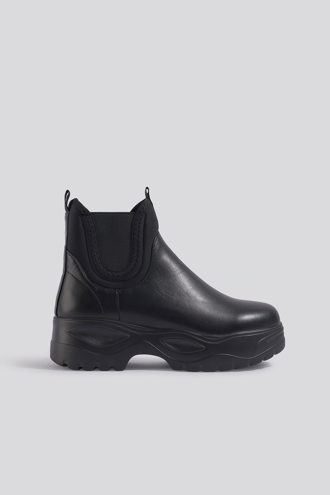 na-kd shoes -  Chunky Chelsea Boots - Black