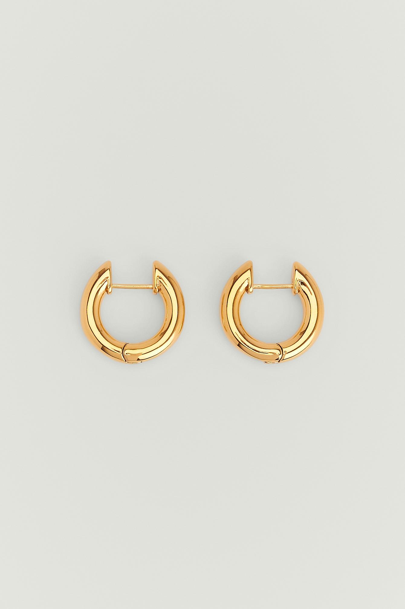 NA-KD Accessories Kraftige øreringe med guldbelægning - Gold