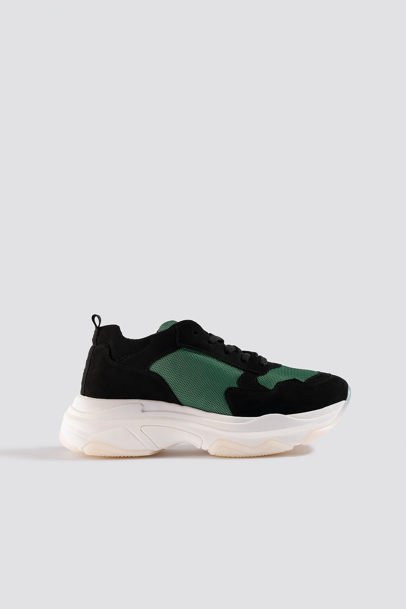 NA-KD Shoes Chunky Green Sneakers - Black,Green