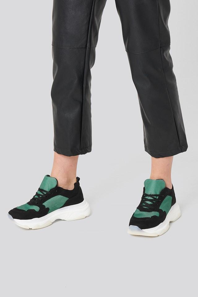 Chunky Green Sneakers Green