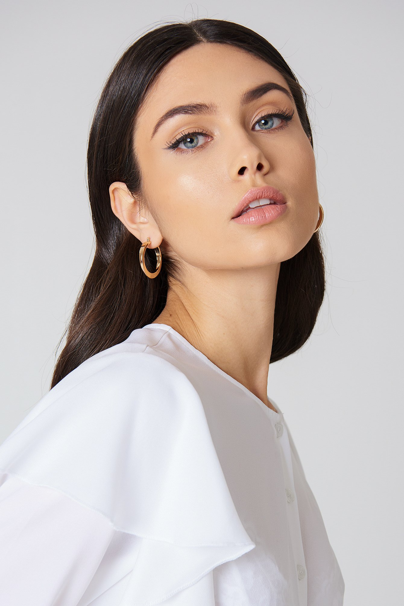 Chunky Hoop Earrings NA-KD.COM