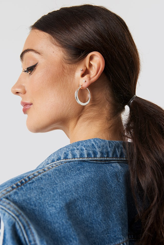 Chunky Hoop Earrings NA-KD Accessories