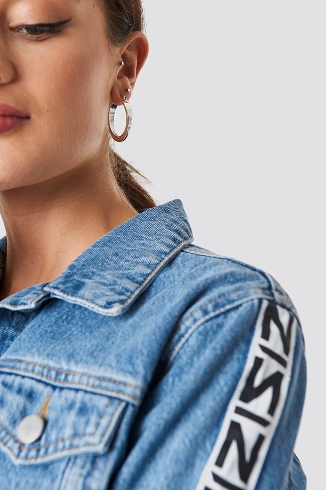 Chunky Hoop Earrings Silver