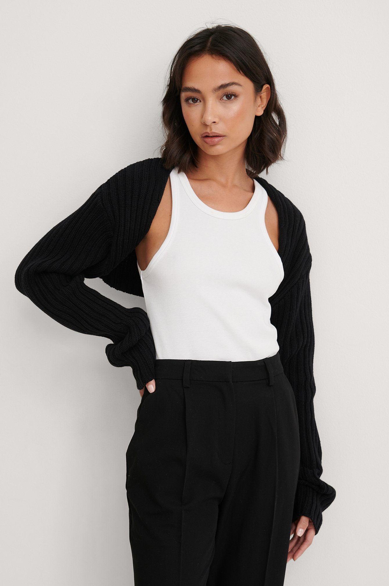 NA-KD Trend Økologisk Cardigan - Black