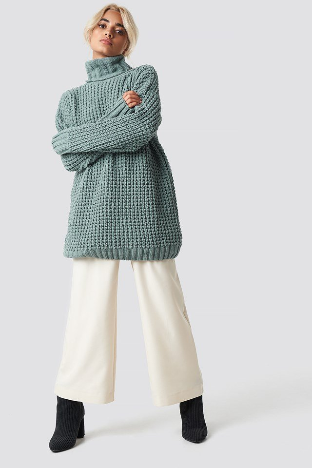 Chunky Oversized Knitted Sweater NA-KD.COM