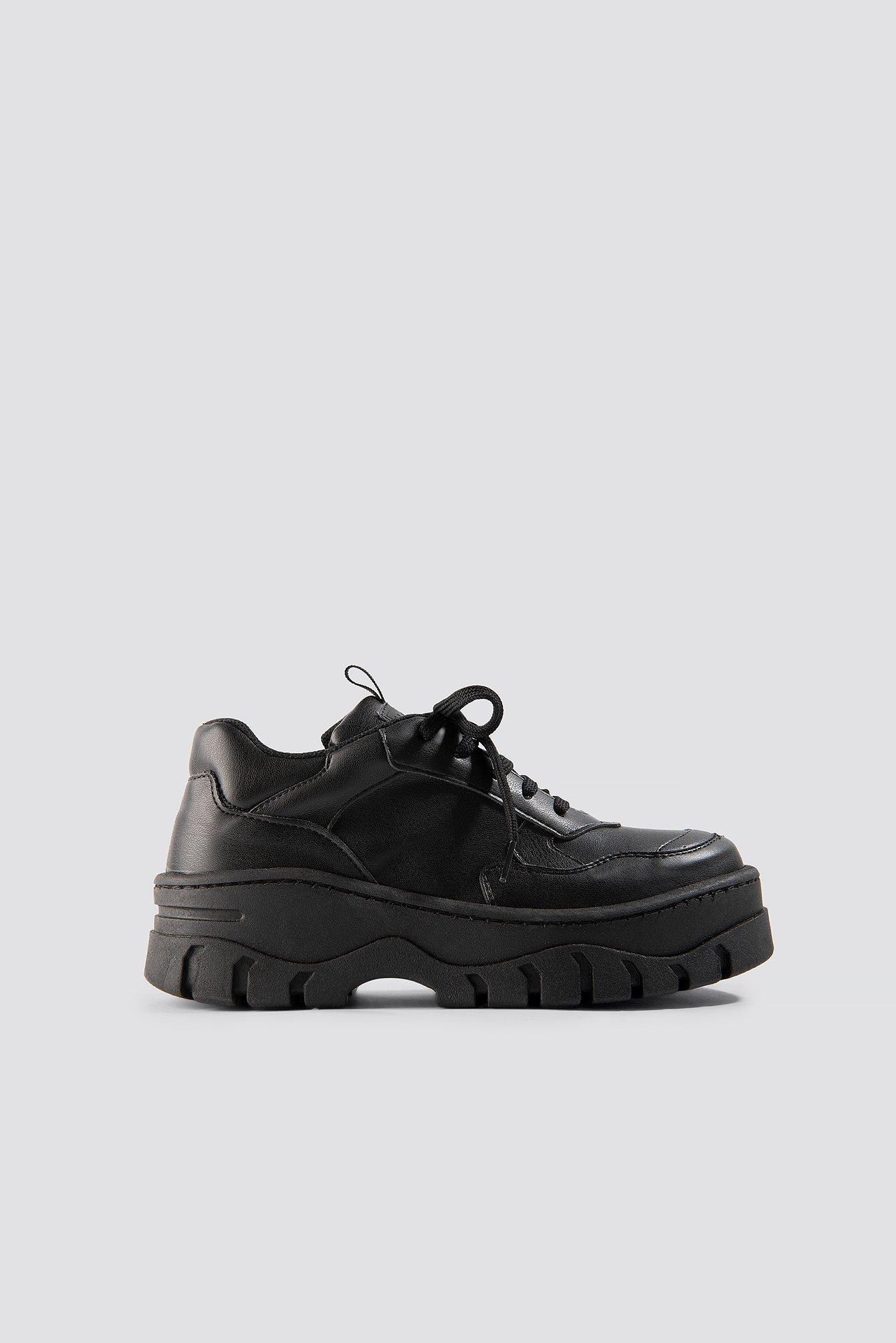 na-kd shoes -  Chunky Profile Sneaker - Black