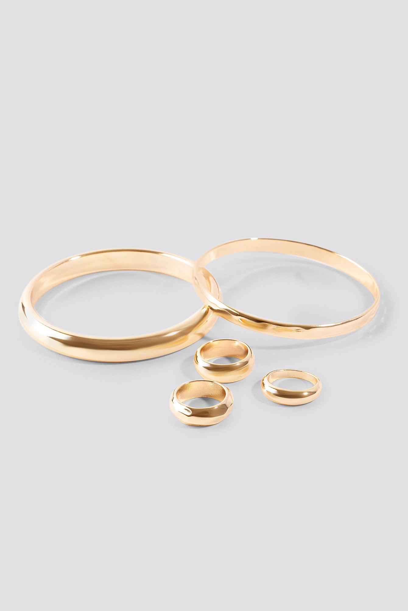 Chunky Rings and Bangles Set NA-KD.COM