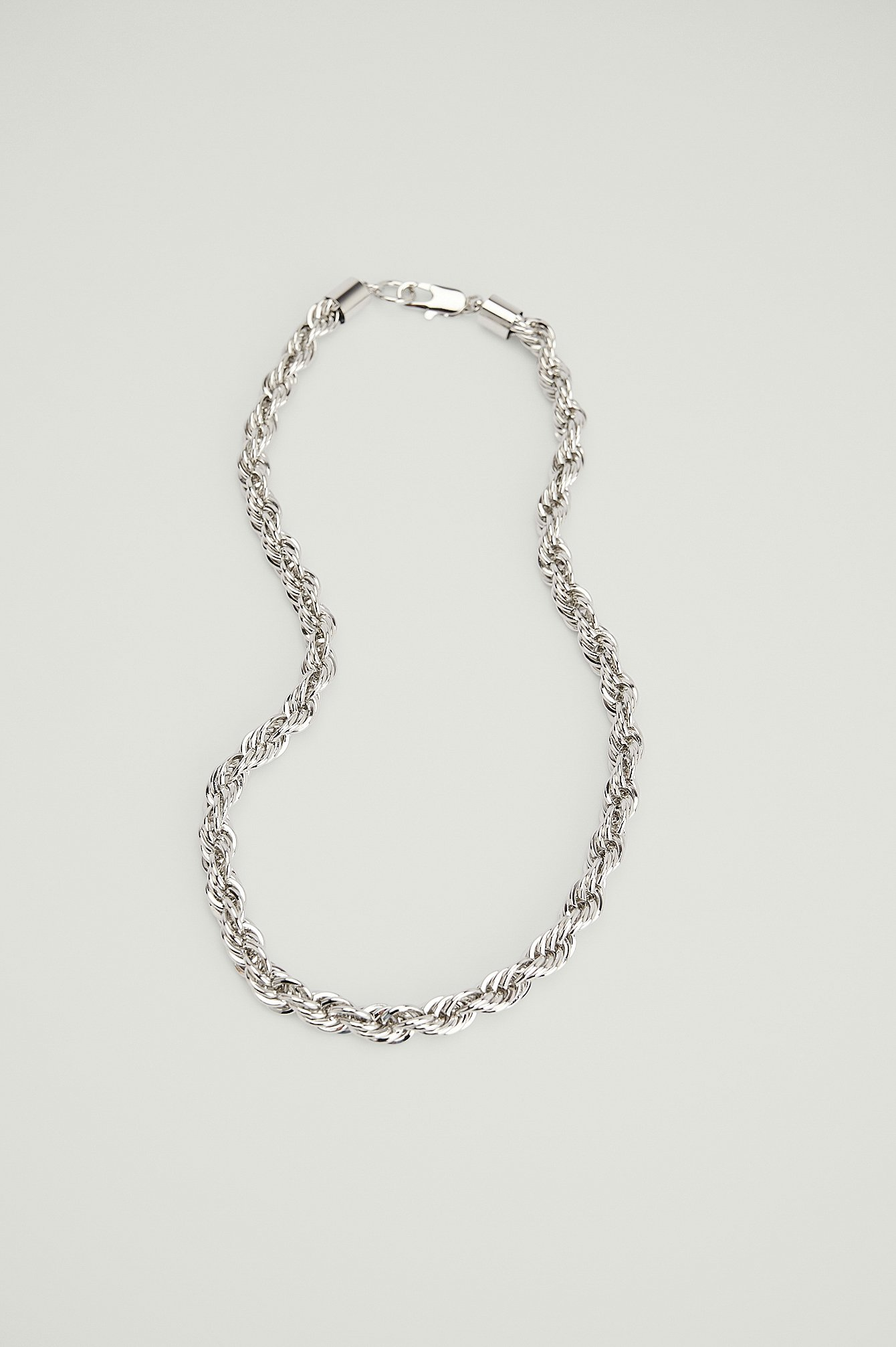 NA-KD Accessories Chunky Rope Chain Necklace - Silver