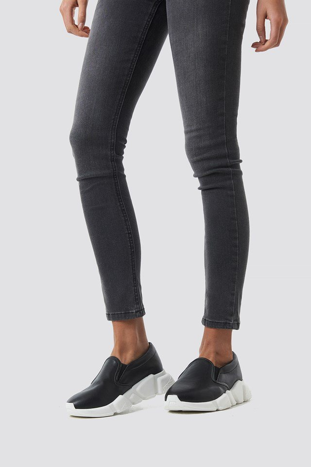 Chunky Slip In Sneakers Black