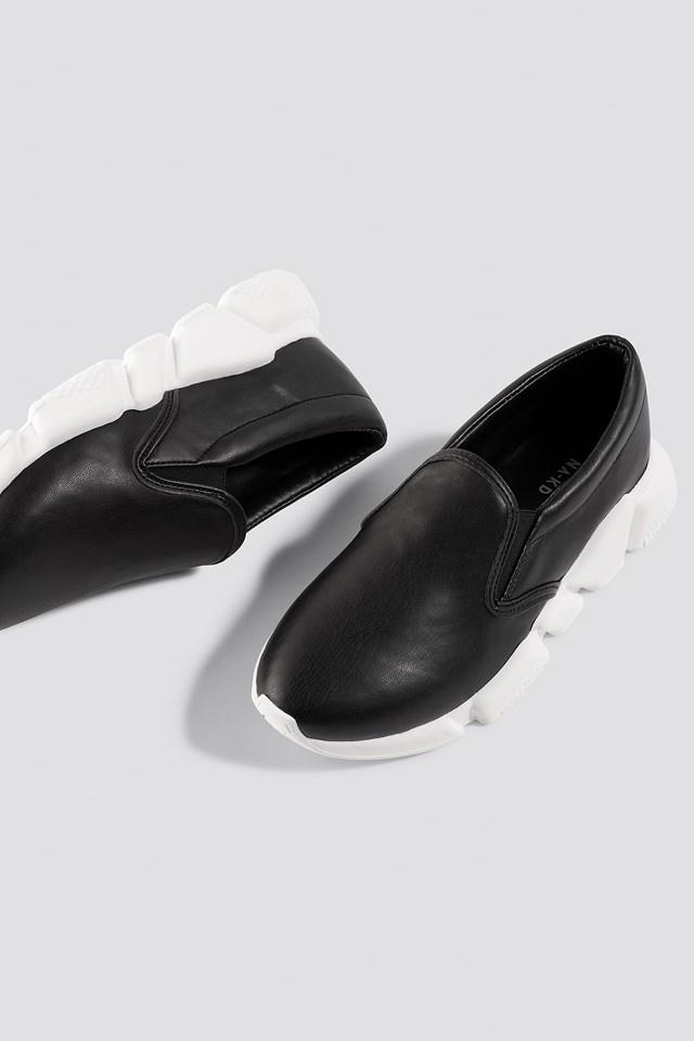 Chunky Slip In Sneakers Black