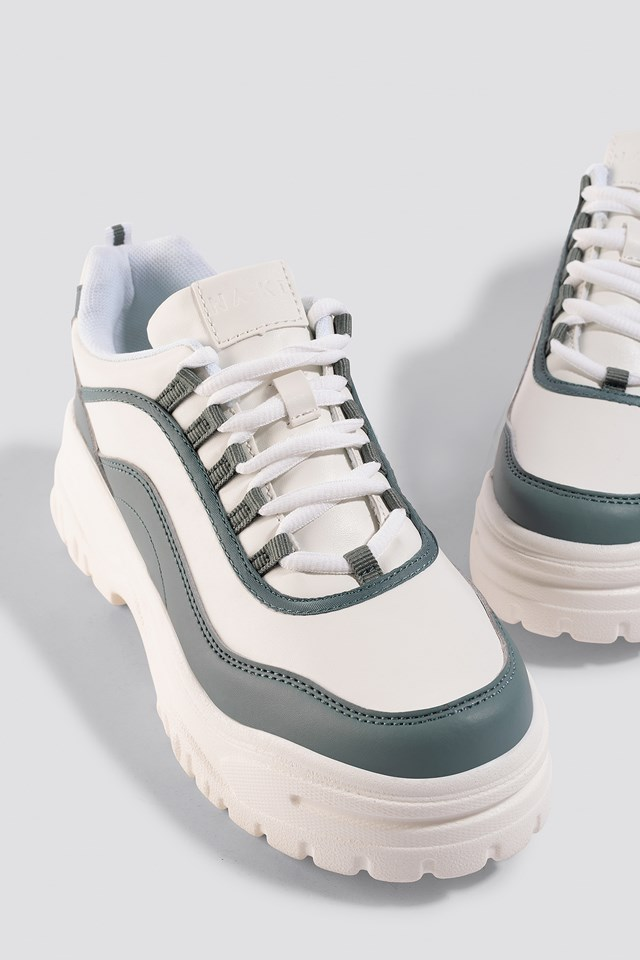 Chunky Sole Sneakers Dusty Mint