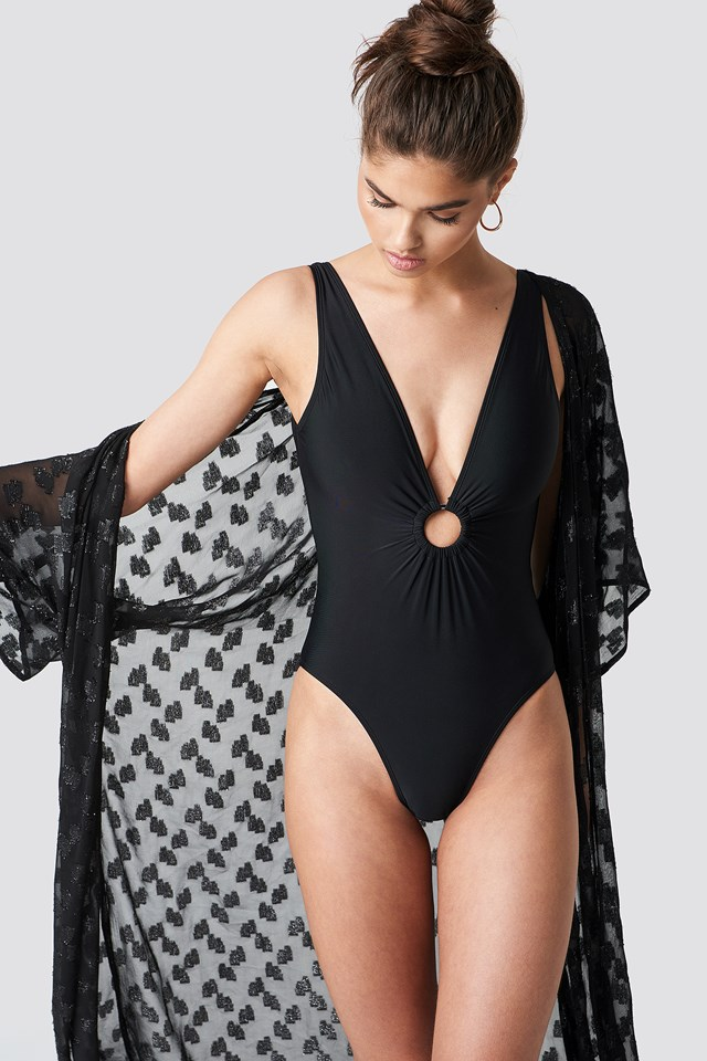 Circle Detail Swimsuit NA-KD.COM