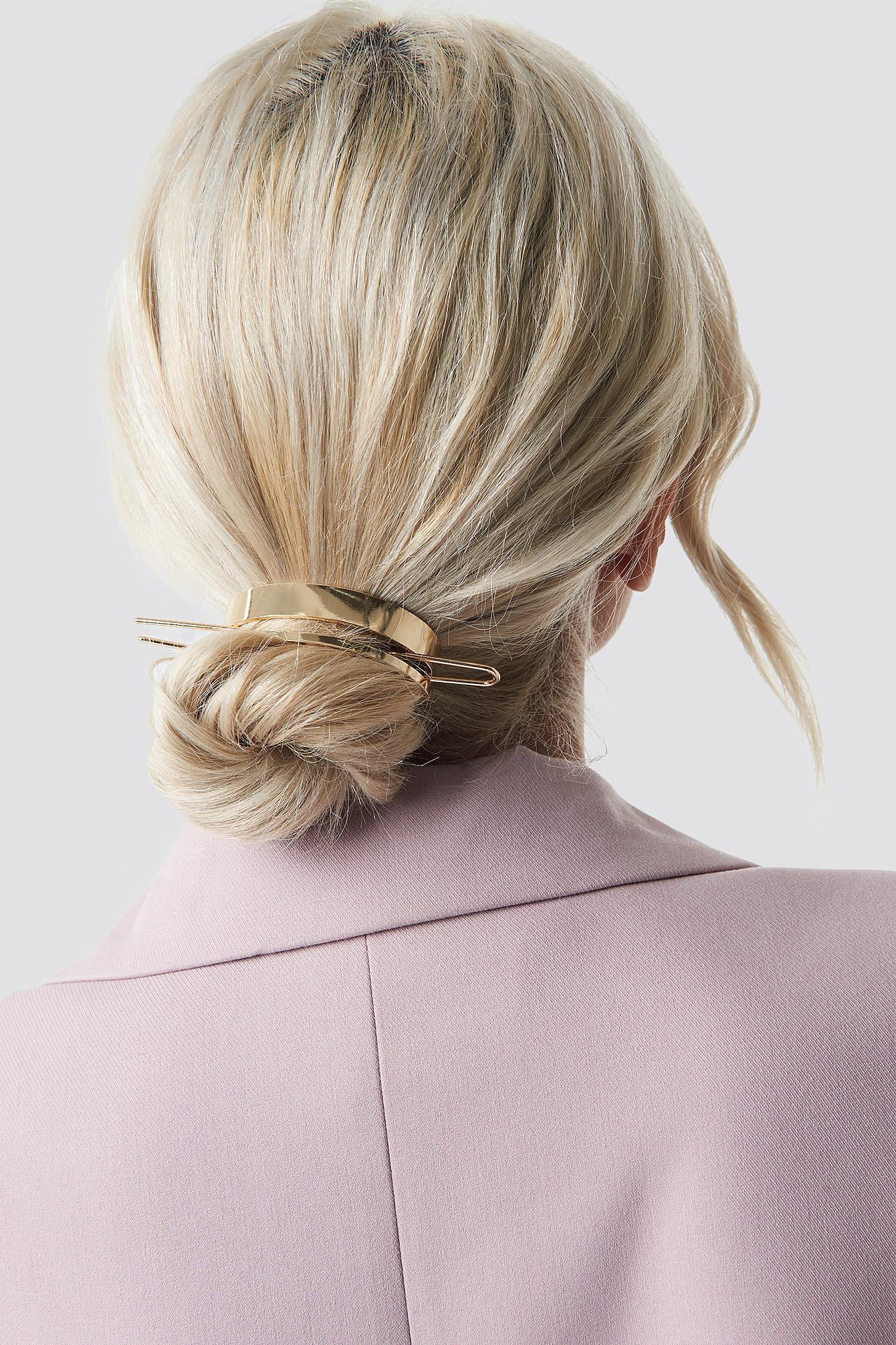 Na-kd Circle Hair Pin - Gold