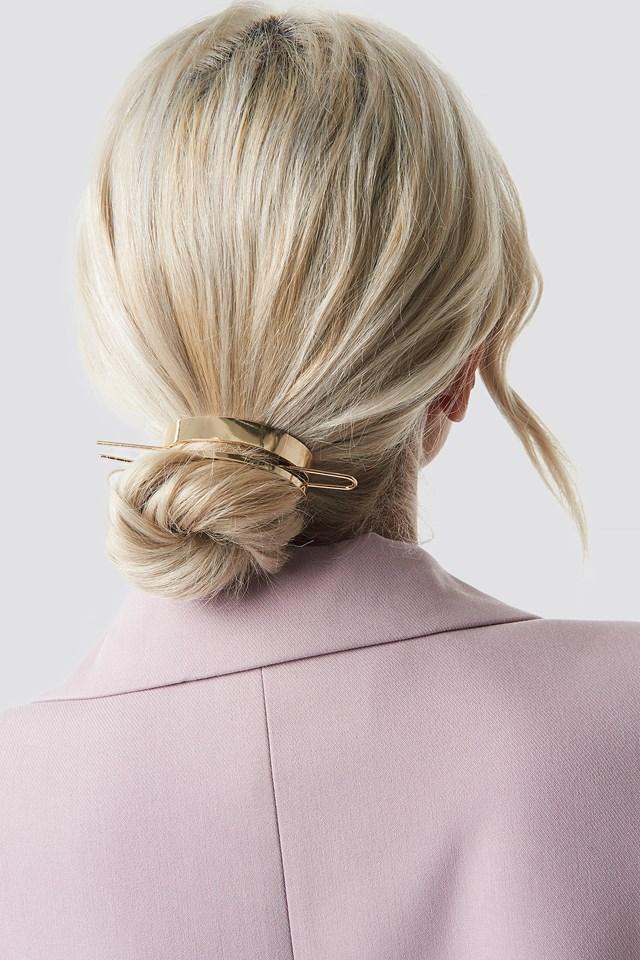 Circle Hair Pin Gold