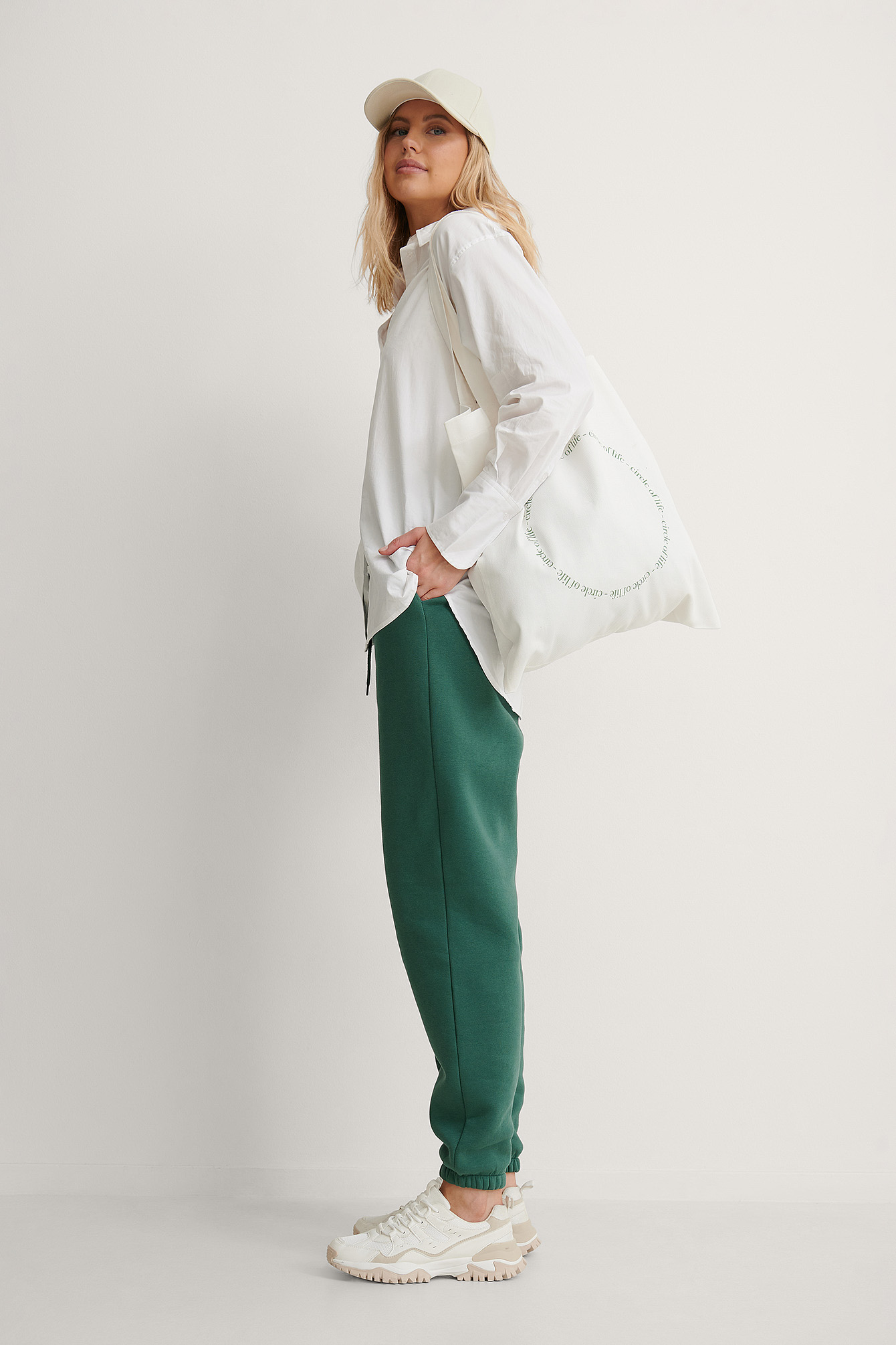 na-kd accessories -  Organisch Circle Of Life Stofftasche - Offwhite