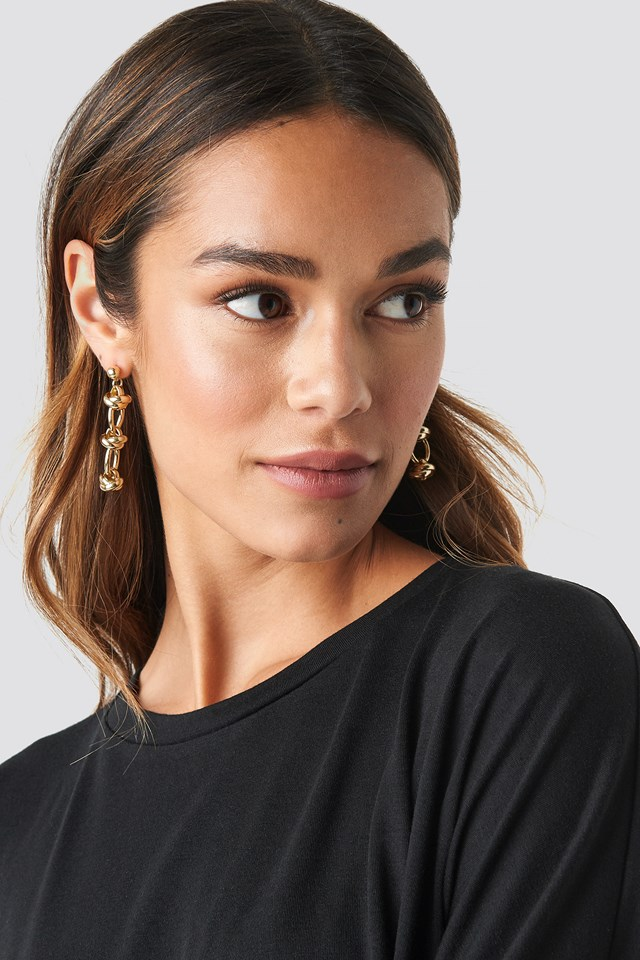 Circular Chain Drop Earrings NA-KD.COM