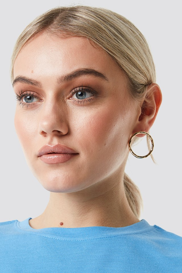 Circle Stud Earrings Gold