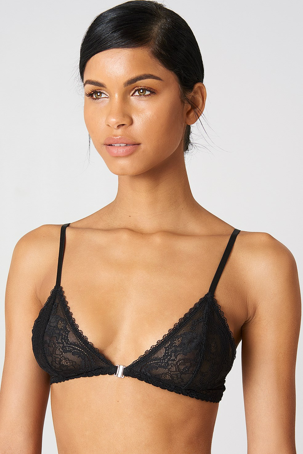 Clasp Front Lace Bra NA-KD.COM