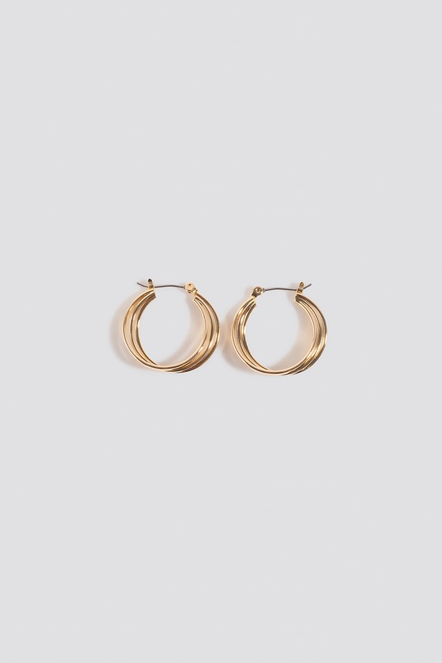 Close Layered Hoop Earrings NA-KD Accessories