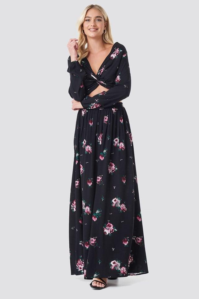 Co-ord Floral Maxi Skirt NA-KD.COM