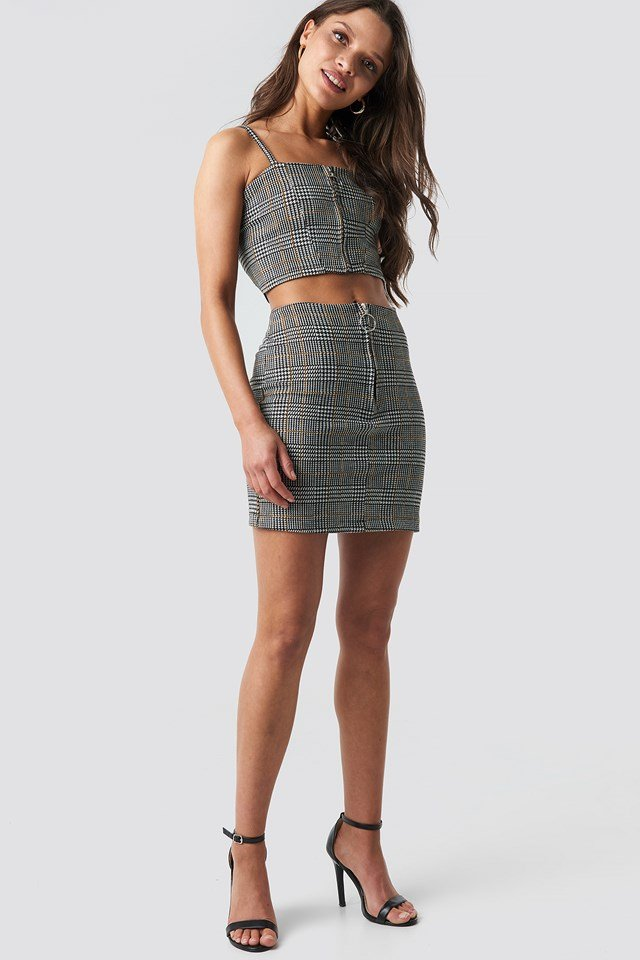Co-ord Check Cami Top NA-KD.COM