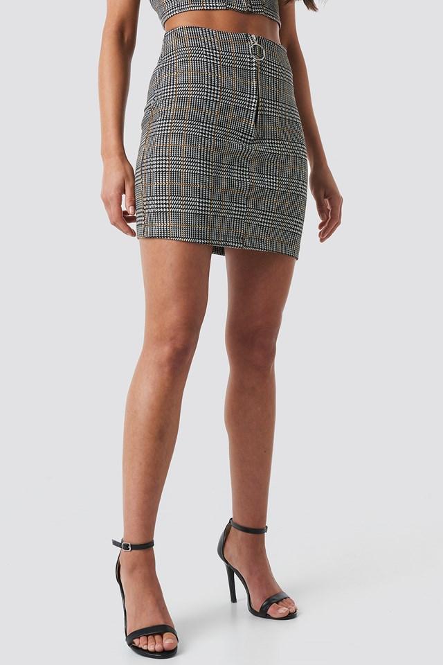 Co-ord Check Mini Skirt Black/White/Yellow