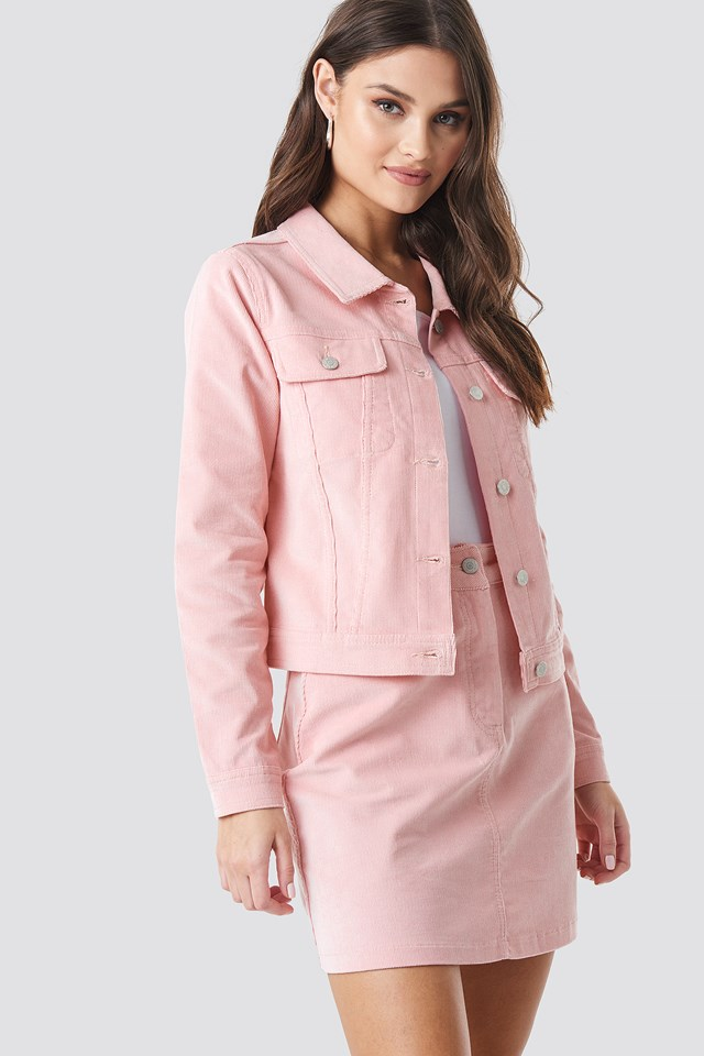 Co-ord Corduroy Jacket Rose Quartz