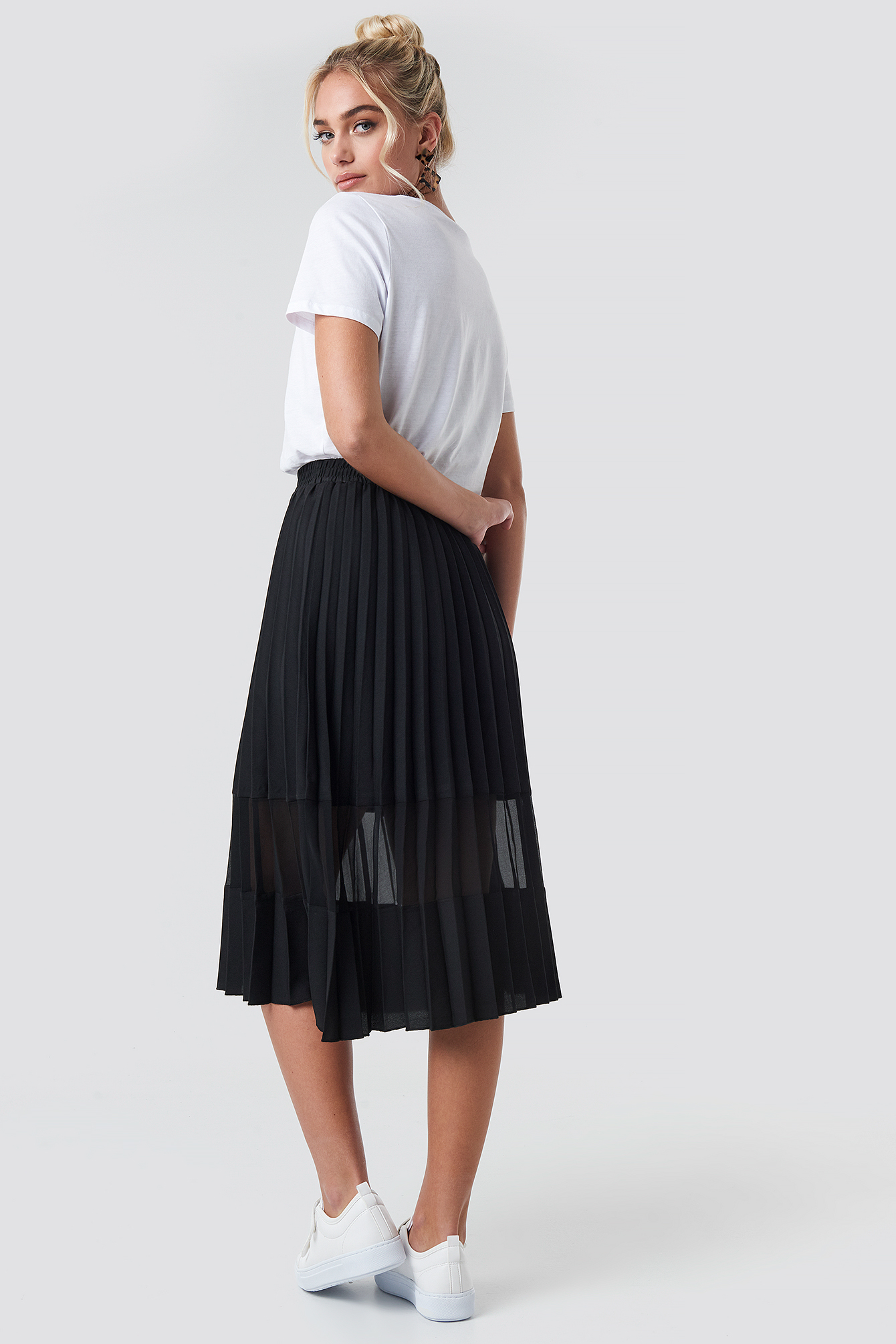 Co-ord Pleated Panel Midi Skirt NA-KD.COM