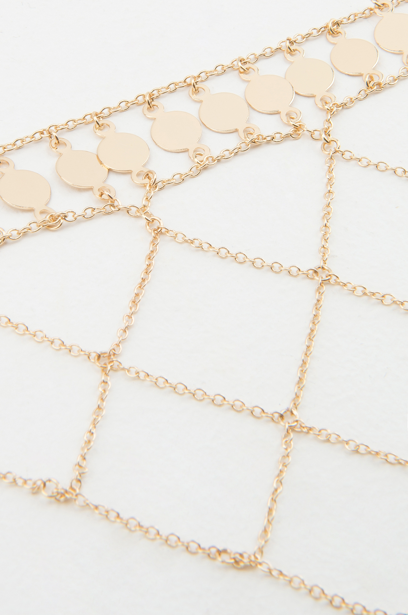 Gold Coin Hanging Net Choker