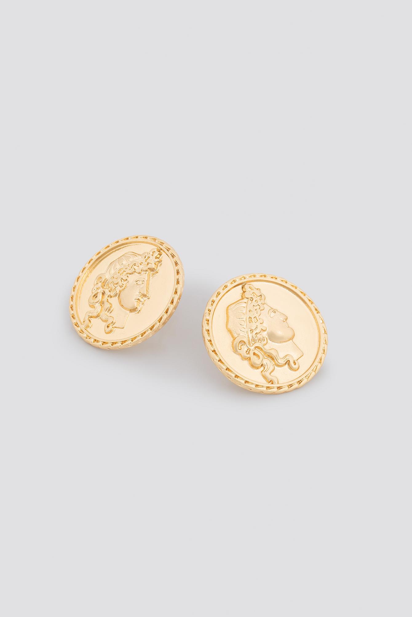 Coin Stud Earrings NA-KD.COM