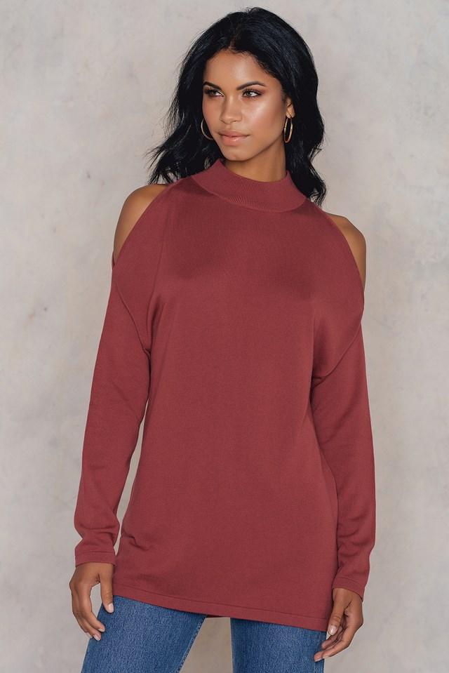 Cold Shoulder Polo Sweater NA-KD.COM